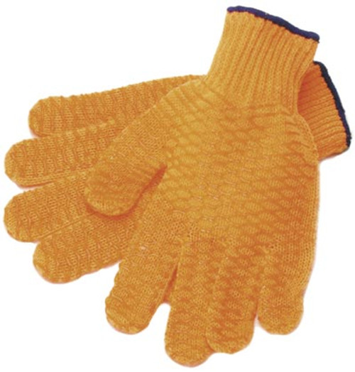 Silicon mesh fish gripping gloves Pair