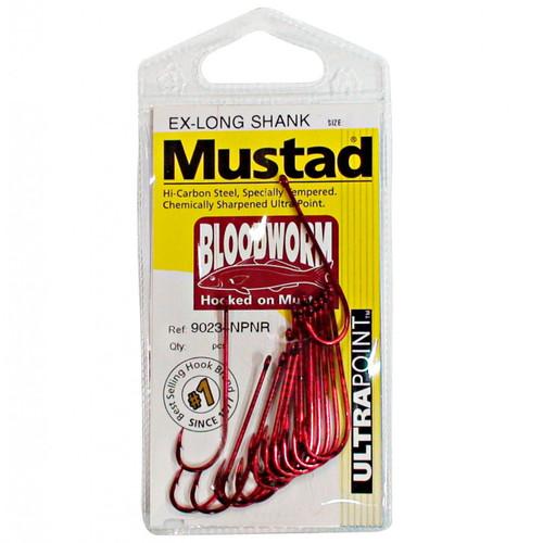 Mustad Bloodworm Long Shank Hooks Single Pack