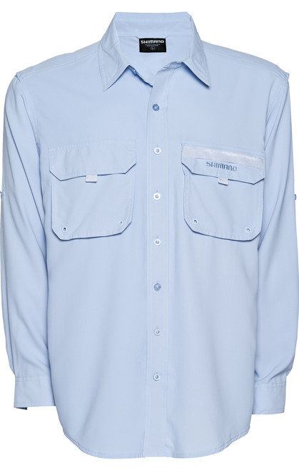 Shimano Vented Shirt Blue Skyway Fishing Shirt Long Sleeve