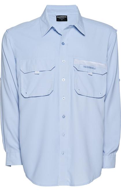 Shimano Vented Shirt Blue Skyway Fishing Shirt Long Sleeve