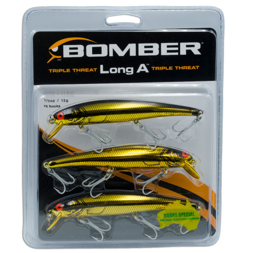 Gold Bomber Lures Long A Triple Threat - 3 Lure Pack