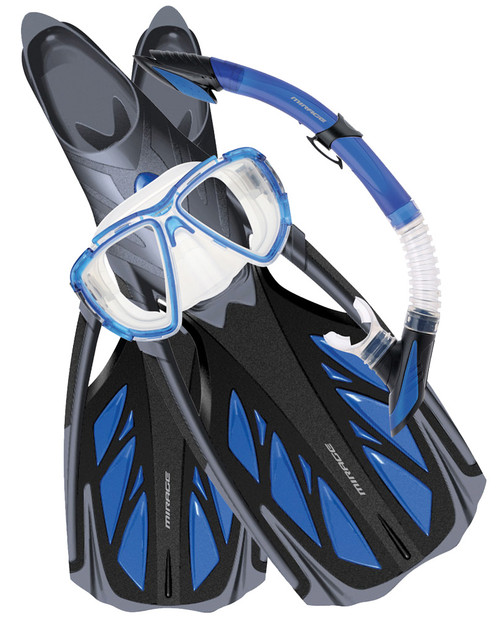 Snorkelling Set Kit Blue - Mirage Platinum