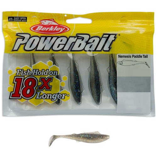 Berkley Powerbait Nemesis Paddle Tail Lures