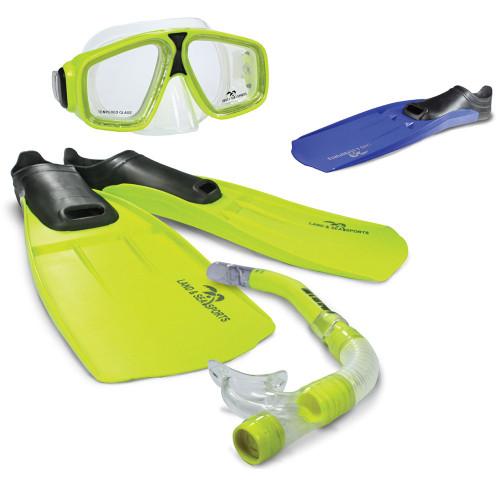 Land And Sea Adventurer mask snorkel flippers set