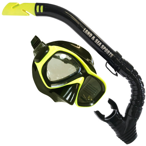 Land And Sea Black mirror Clearwater Mask And Snorkel