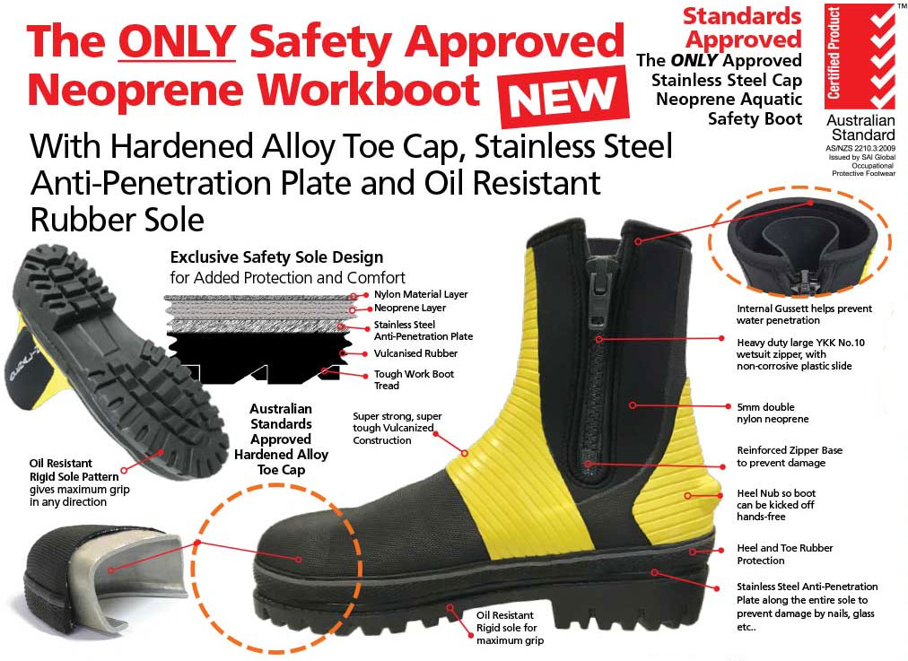 adrenalin aquatic work boots