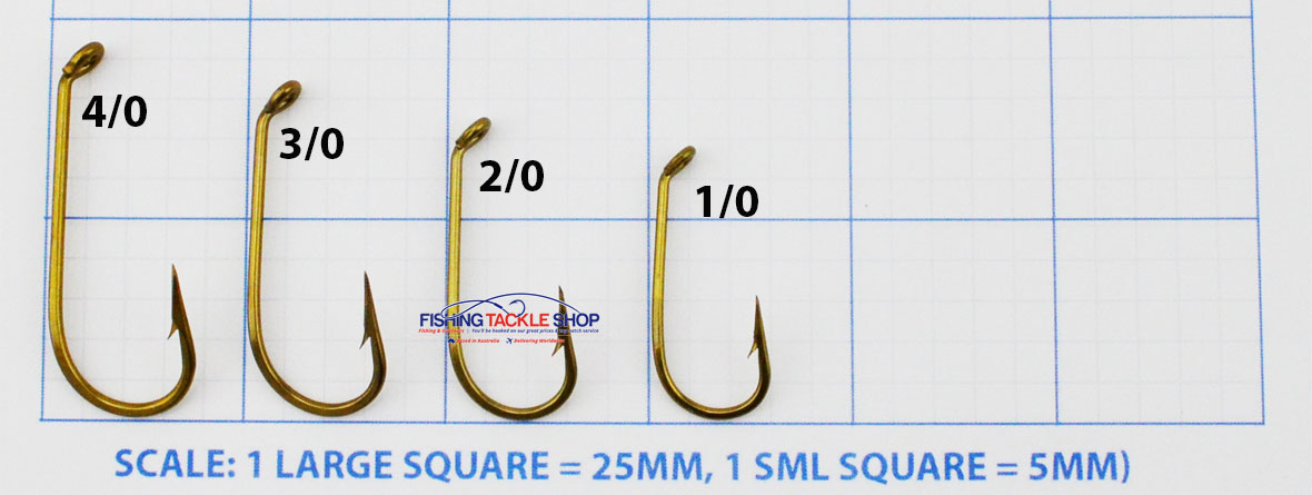 Mustad 542 Hook Size Chart