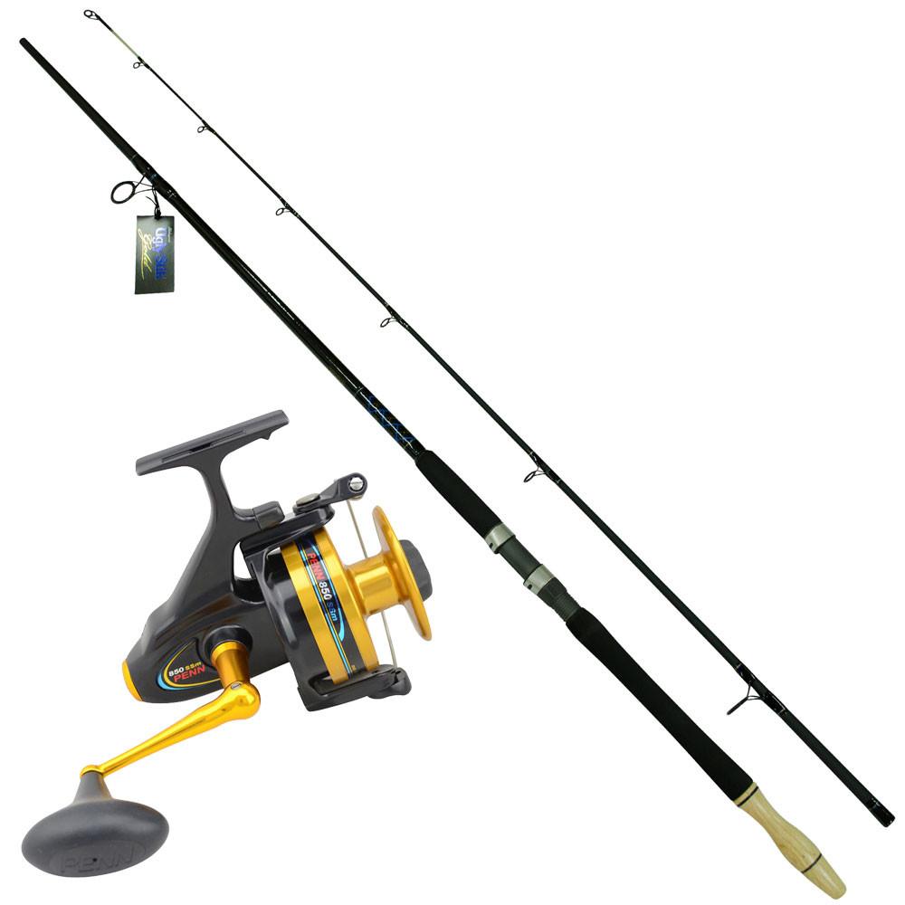 Medium Heavy Beach Rod Combo Ugly Stik 12ft Rod With Penn Spinfisher 850ssm Ebay