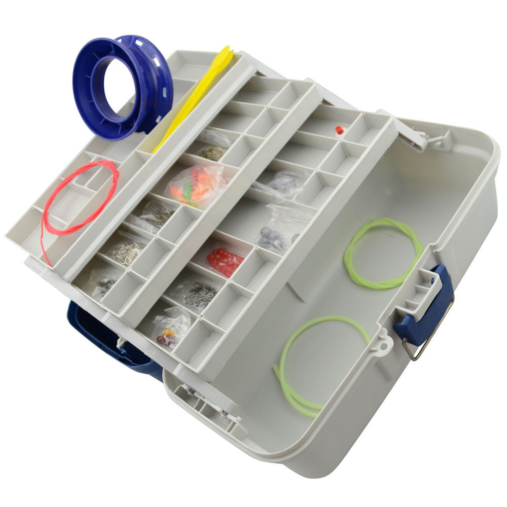 Image of 500 Piece Fishing Tackle Box Kit Jarvis Walker