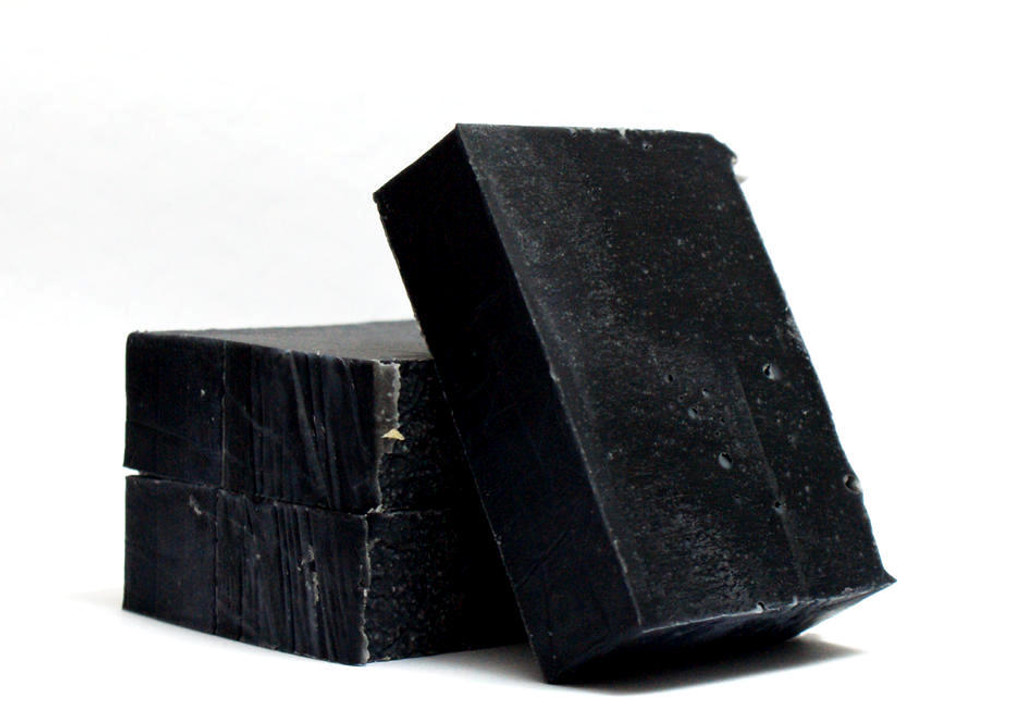 Activated Bamboo Charcoal Soap with Lavender Essential Oil