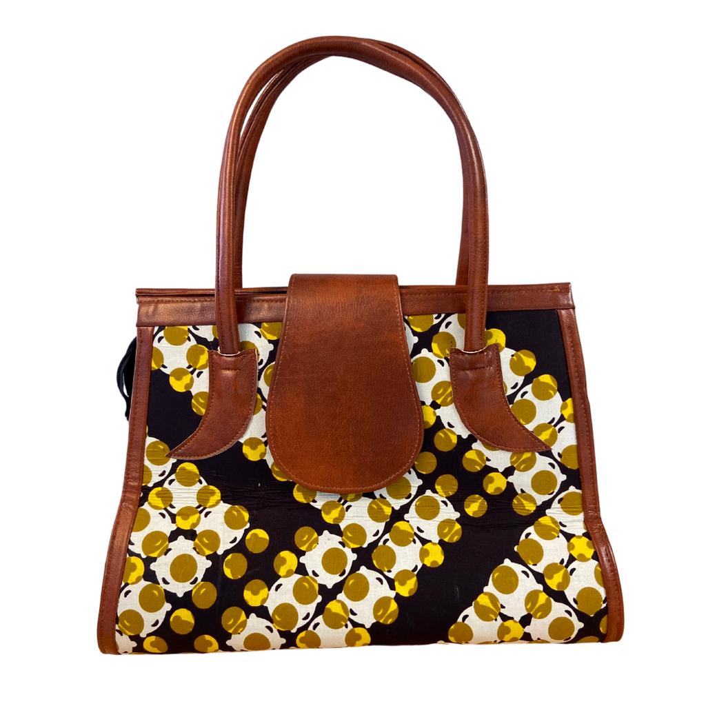 Handmade African Print Handbag  (HB09)