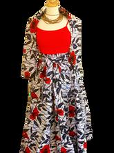 The Red Queen - African Print Long Skirt
