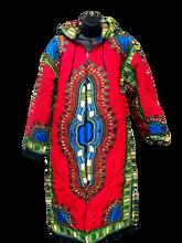 Pink & Blue Reversible Dashiki Coat