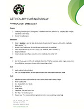 FREE Downloadable Natural Hair Checklist