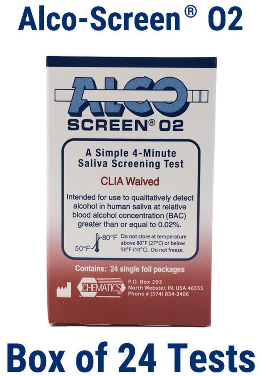 Alcohol Test Strip Alco-Screen .02, DOT Approved, CLIA Waived Item No. 56024
