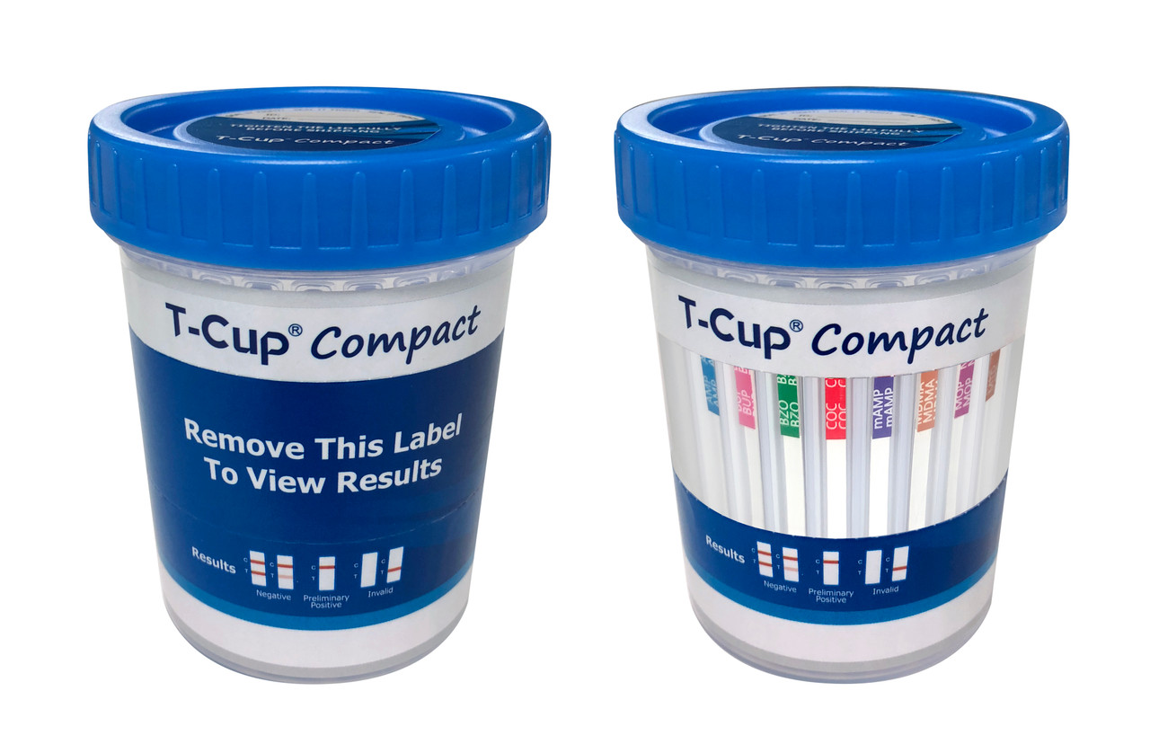 T-Cup Compact CLIA Waived 12 panel drug test cup with 3 AD