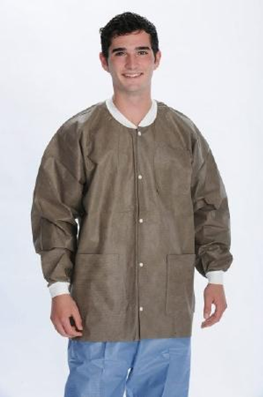 ValuMax SMS Lab Jacket Hip Length Coffee