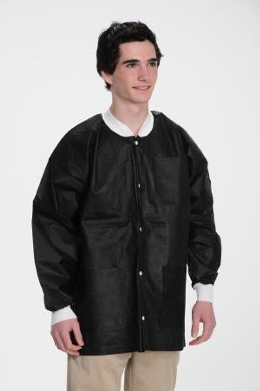 ValuMax SMS Lab Jacket Hip Length Black
