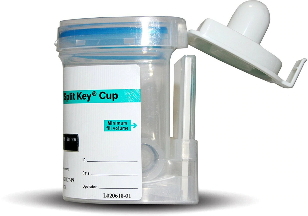 EZ Integrated Key Activated Drug Test Cup Abbott Diagnostics
