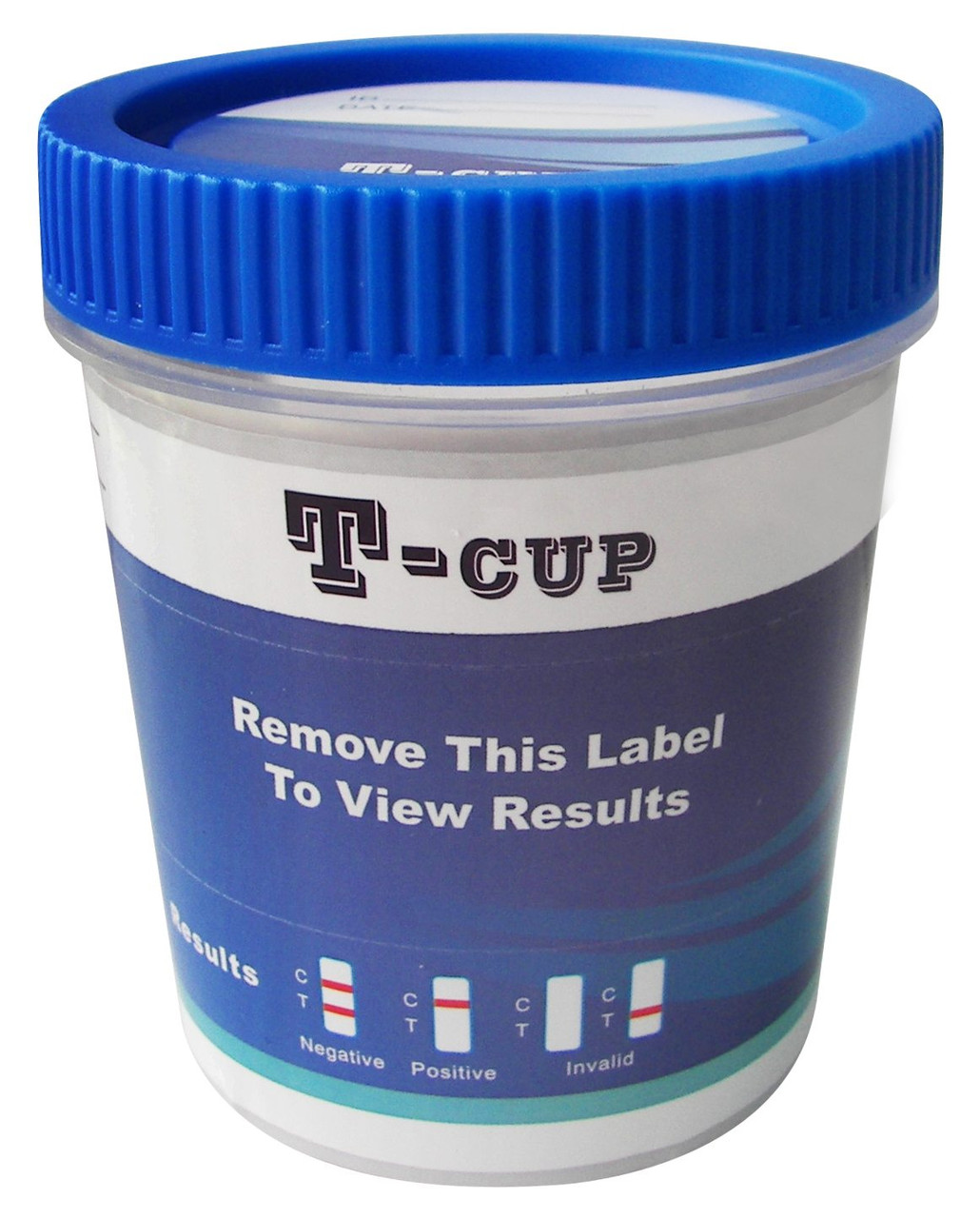T-Cup Drug Test Cup 12-Panel Label ● Female User Friendly ● No Donor Tampering Possible ● Dark Line Present As Soon As 1 Minute ● Up To 17 Drug Panels Plus Adulteration