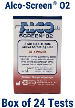 Alcohol Test Strip Alco-Screen .02, CLIA Waived Item No. 56024