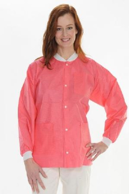 ValuMax SMS Lab Jacket Hip Length Coral Pink