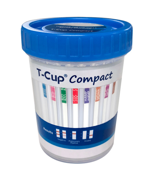T-Cup Compact CLIA Waived 12 panel drug test cup with Adulteration