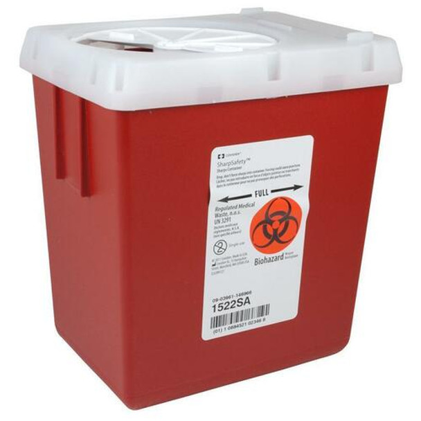 Covidien Kendall Phlebotomy Sharps Container 2.2 Quart 60/Case