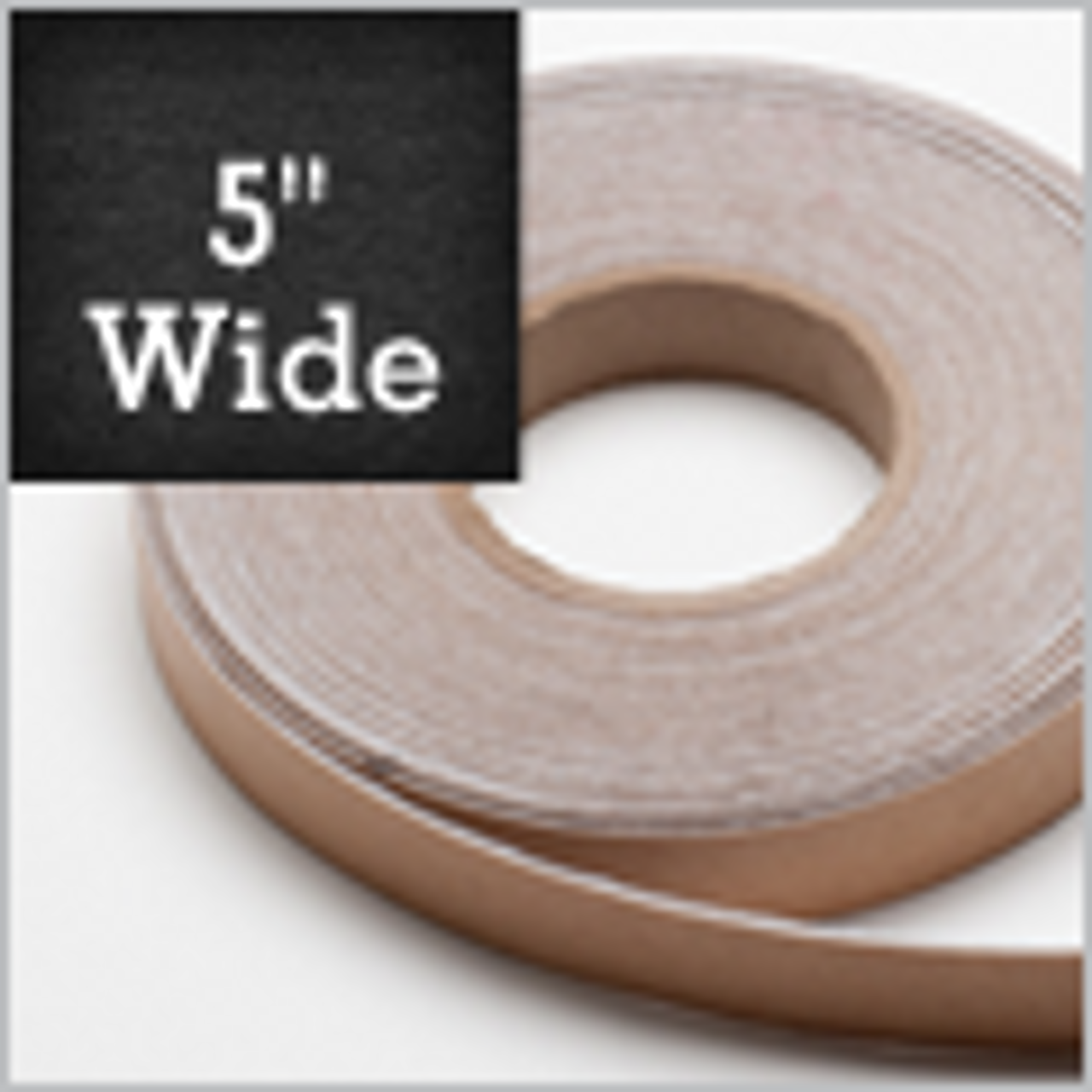 """White Felt Stripping 5"""" Wide, Adhesive Backed"""