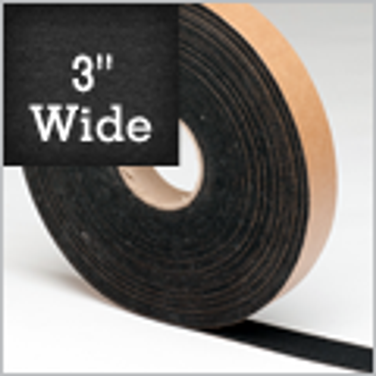 """Black Felt Stripping 3"""" Wide, Adhesive Backed"""