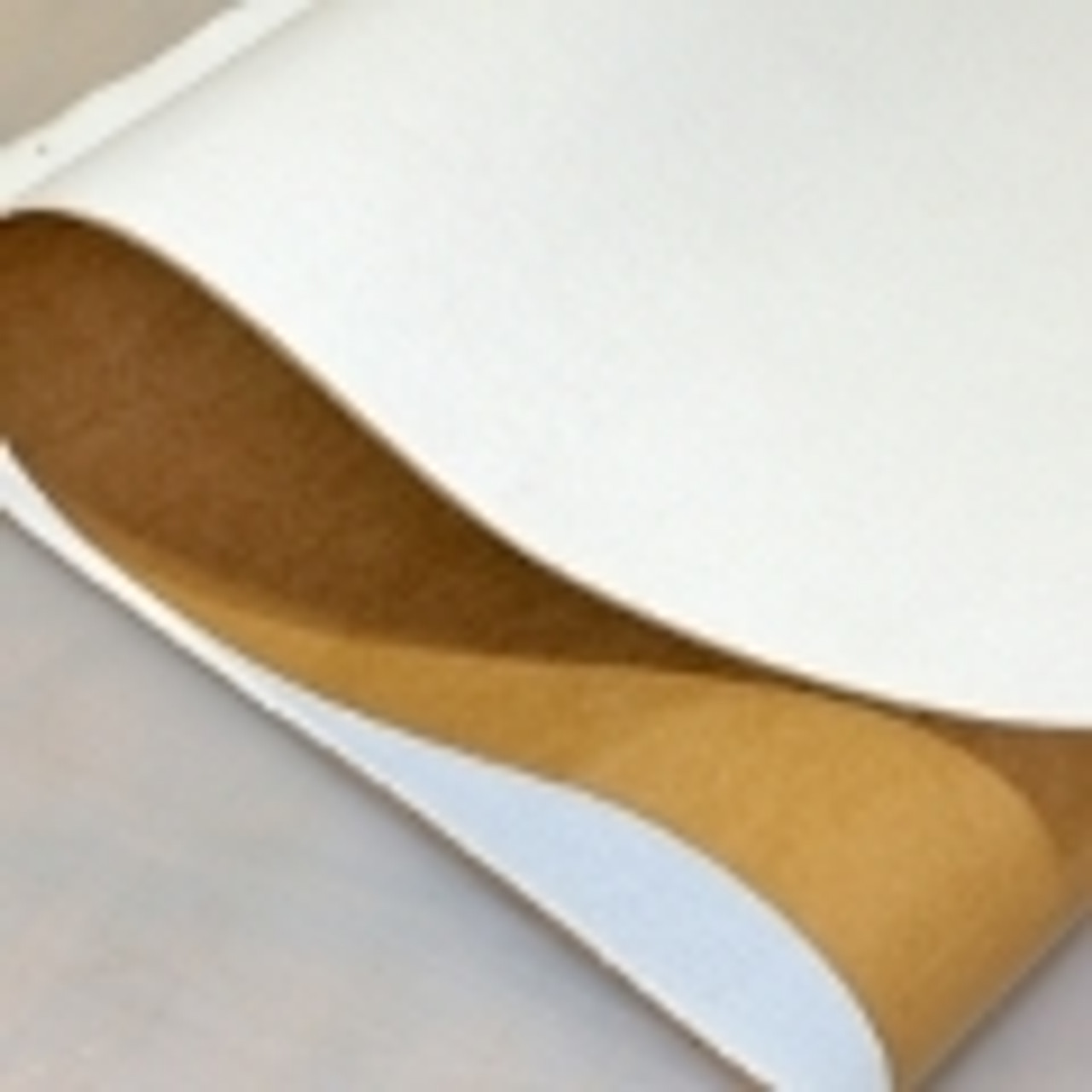 White Polyester, Adhesive Backed