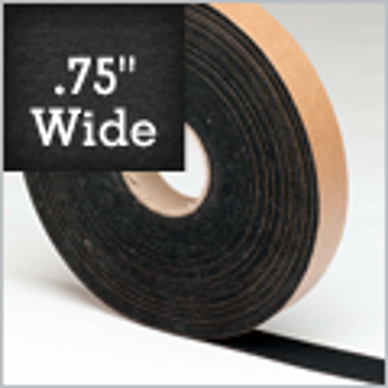 "Black Felt Stripping, 3/4"" Wide, Adhesive Backed"