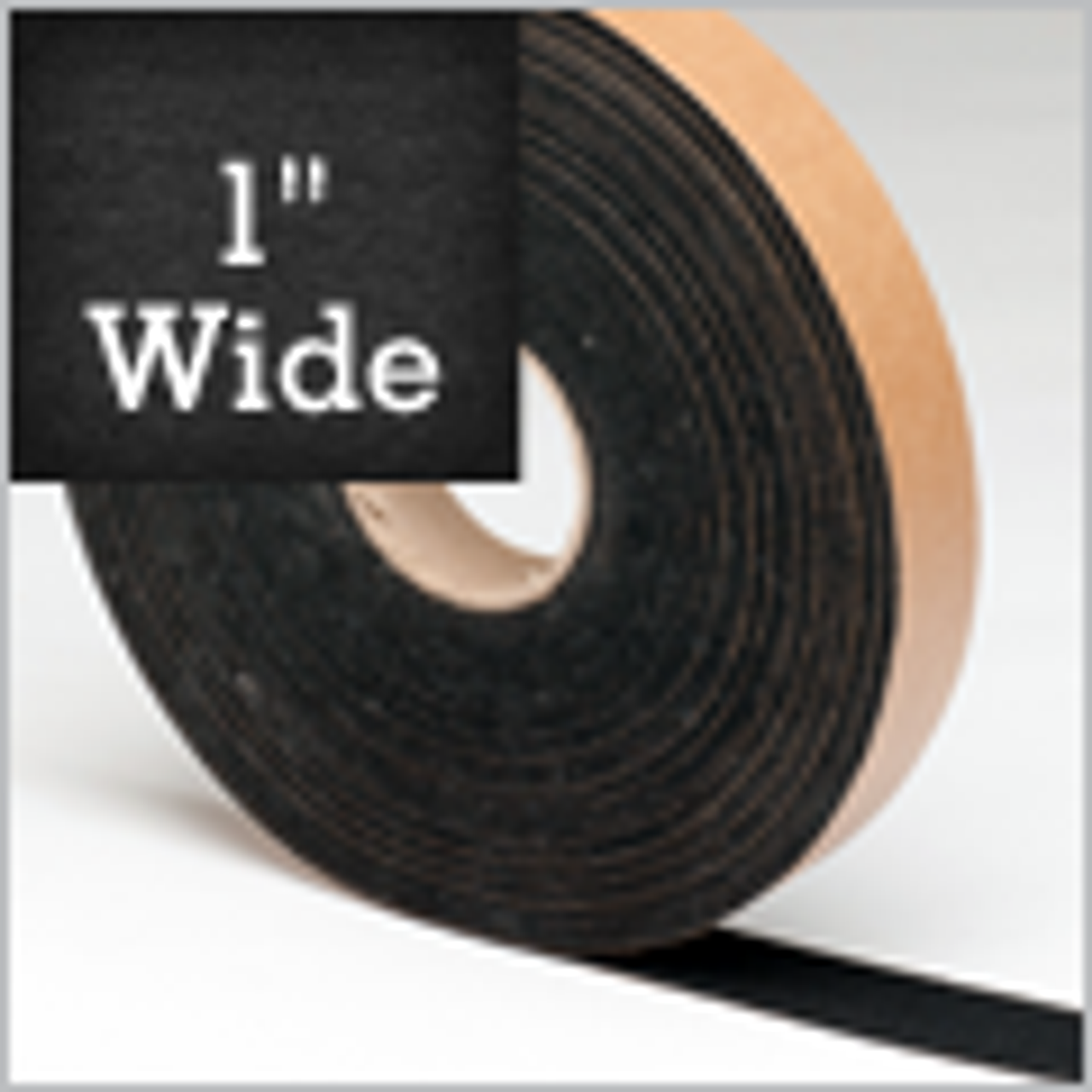 """Black Felt Stripping 1"""" Wide, Adhesive Backed"""