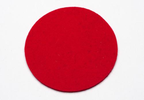 Felt Coasters, Cardinal Red