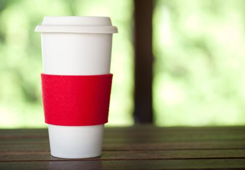 Felt Coffee Sleeves, Cardinal Red