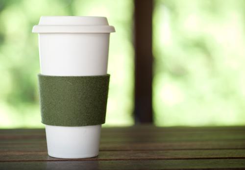 Felt Coffee Sleeves, Fern Green