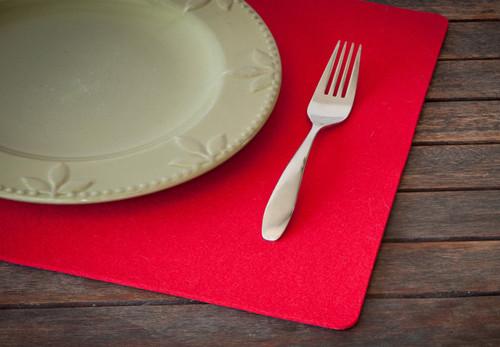 Rectangular Felt Placemats, Cardinal Red