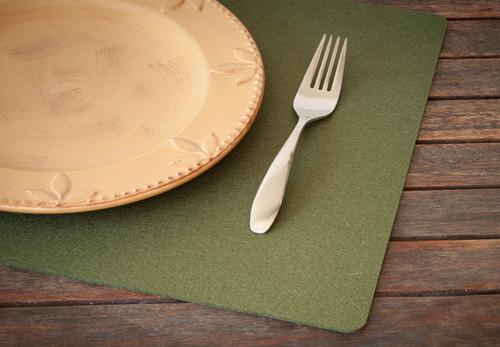 Rectangular Felt Placemats, Fern Green