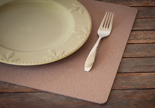 Rectangular Felt Placemats, Northwood Brown