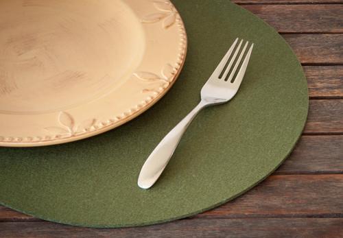 Oval Felt Placemats, Fern Green