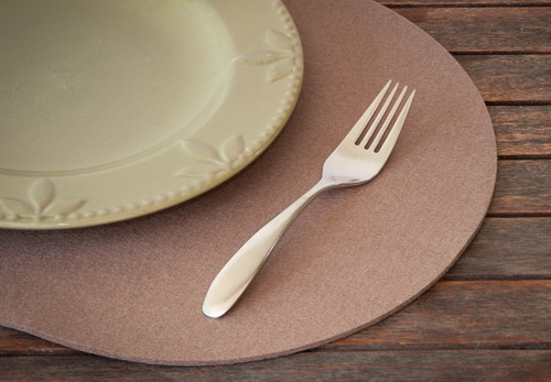Oval Felt Placemats, Northwood Brown