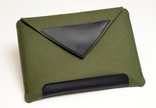 "15"" Felt Laptop Sleeve, Fern Green"