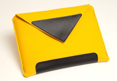 "15"" Felt Laptop Sleeve, Marigold"
