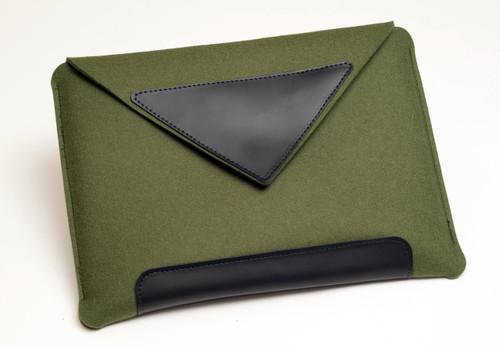 """17"""" Felt Laptop Sleeve, Fern Green"""