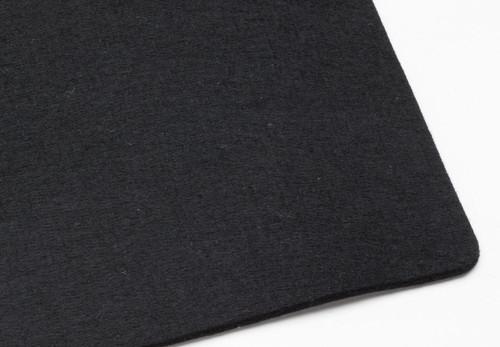 "Black Polyester 4mm (.157"") Thick x 60"" Wide, Soft Density (25oz per sq yard) - 5 Yard Minimum"