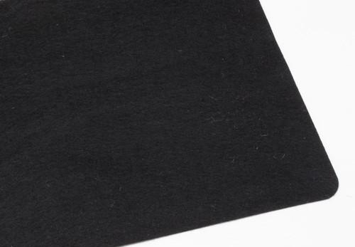"Black Polyester 1mm (.039"") Thick x 60"" Wide, Medium Density (5.9oz per sq yard) - 10 Yard Minimum"