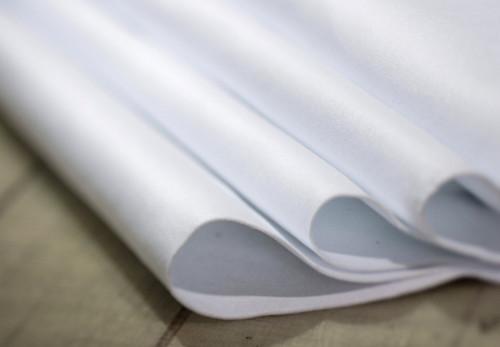 "White Polyester 1/8"" (3.18mm) Thick x 54"" Wide, Medium Density (18oz per sq yard) - 10 Yard Minimum"