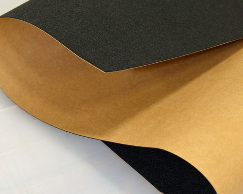 "Black Polyester, Adhesive-Backed, 2mm (.078"") Thick x 60"" Wide, Medium Density - 10 Yard Minimum"