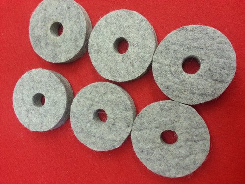 "High Quality Wool Felt Burnishing Wheel 1/2"" Thick (Set of 6)"