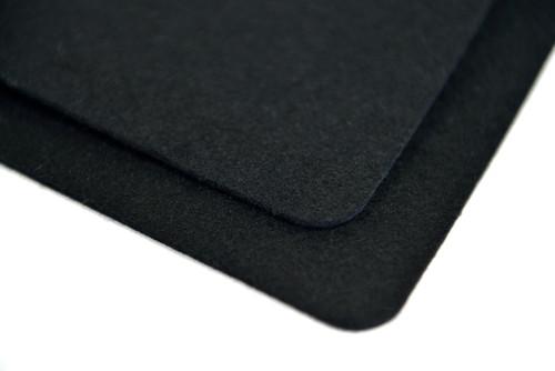 """Black F-1 Wool Felt, 1/8"""" Thick x 60"""" Wide"""